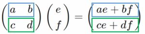 行列積の例1