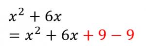 平方完成の途中式