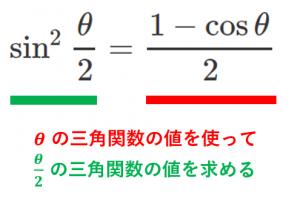 半角の公式とは