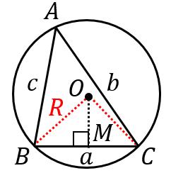 正弦定理の証明(鋭角の場合)