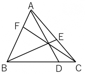 チェバの定理を使う例題