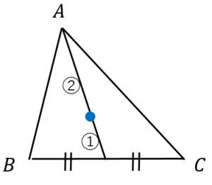 重心は中線の内分点