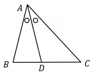 角の二等分線定理