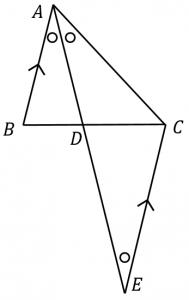 角の二等分線定理の証明