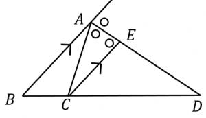 外角の二等分線定理の証明
