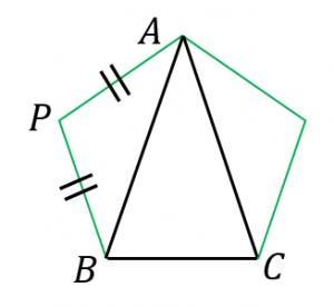 正五角形内の三角形