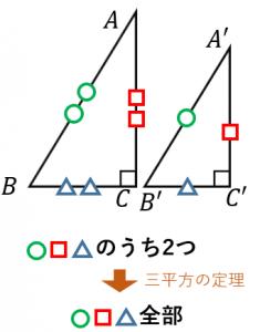 直角三角形の相似条件の証明