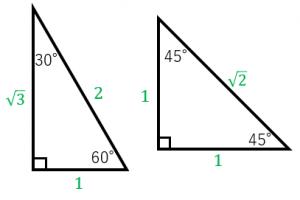 有名な直角三角形の辺の比