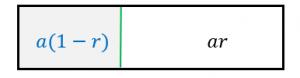 無限等比級数の和を図形で証明
