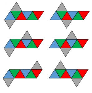 正八面体の展開図その1