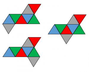 正八面体の展開図その2