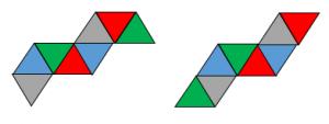 正八面体の展開図その3
