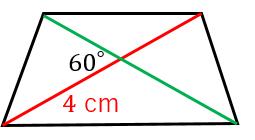 台形の対角線と面積