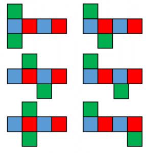 立方体の展開図1