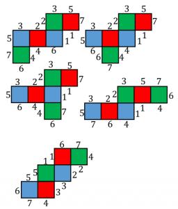 平行な面、辺の対応2