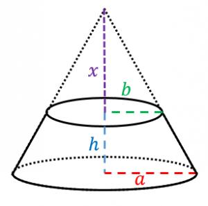 円錐台の体積と表面積の導出