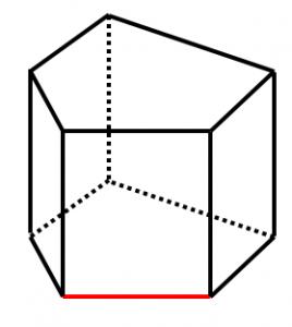 五角柱とねじれの位置