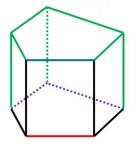 五角柱とねじれの位置2