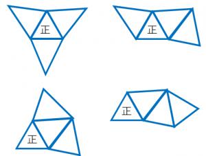 正三角錐の展開図