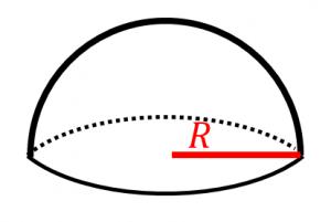半球の体積と表面積