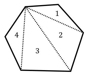 多角形の内角の和