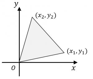 座標平面上の三角形の面積