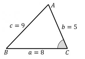 3辺の長さから面積を求める