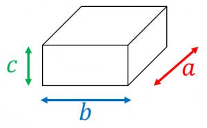 四角柱の鉄の重さ