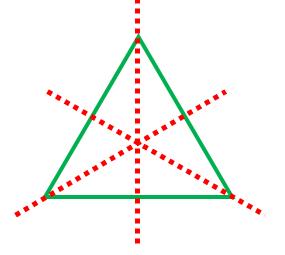 正三角形は線対称