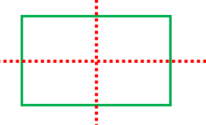 長方形は線対称
