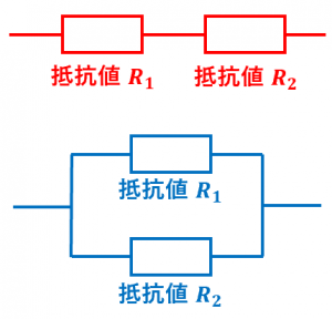 抵抗の直列接続と並列接続