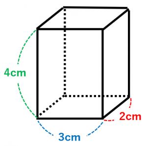 直方体の体積を計算する例題
