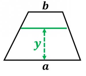 台形の重心公式の導出